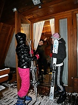 Horny lesbians at the ski resort