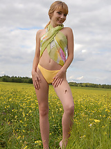 Russian small tits teen posing nude outside