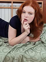 Hairy Florences bright red hair matcher her carpet